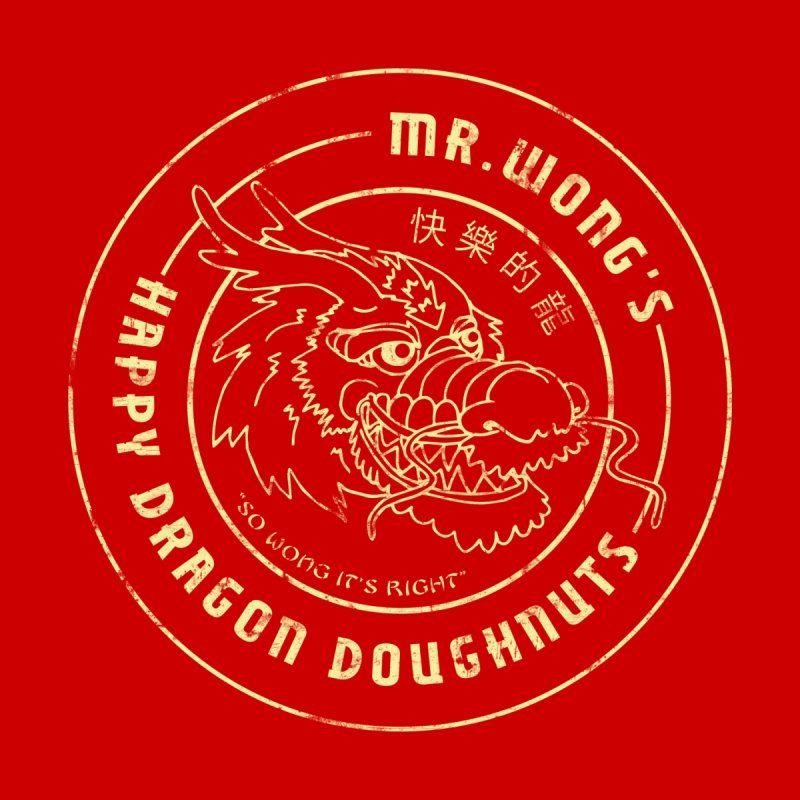 Mr. Wong's Happy Dragon Doughnuts None  by Slothfox Apparel by Trenn