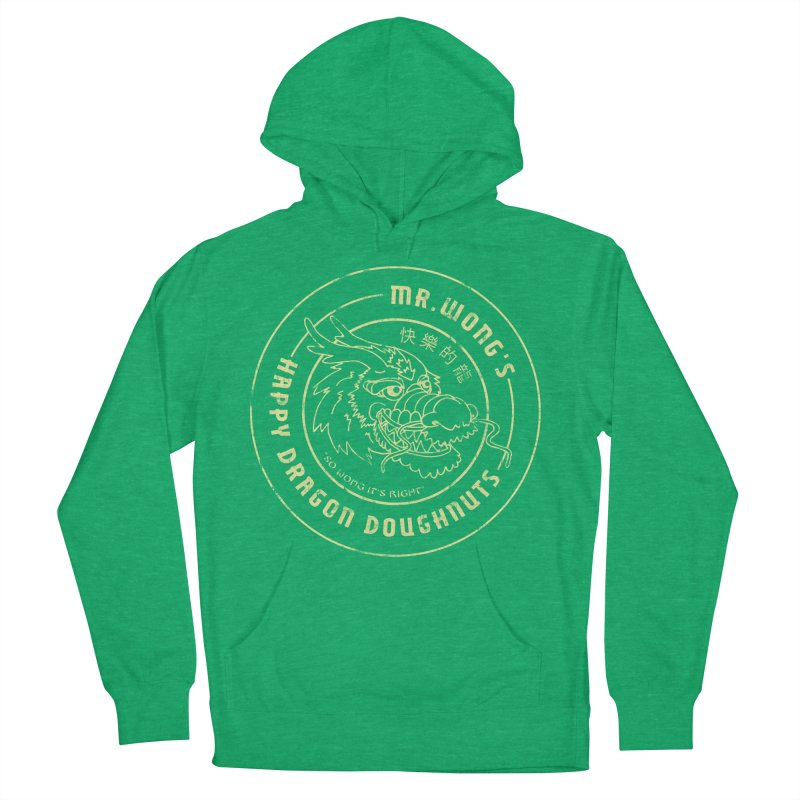 Mr. Wong's Happy Dragon Doughnuts Women's Pullover Hoody by Slothfox Apparel by Trenn