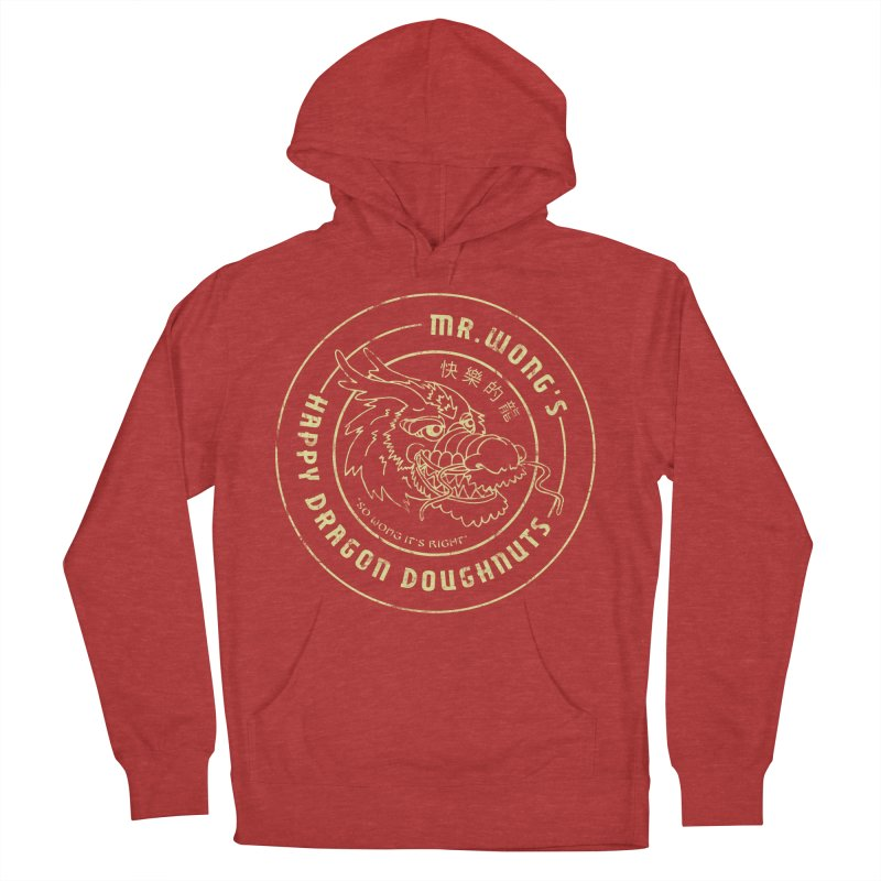 Mr. Wong's Happy Dragon Doughnuts Men's Pullover Hoody by Slothfox Apparel by Trenn