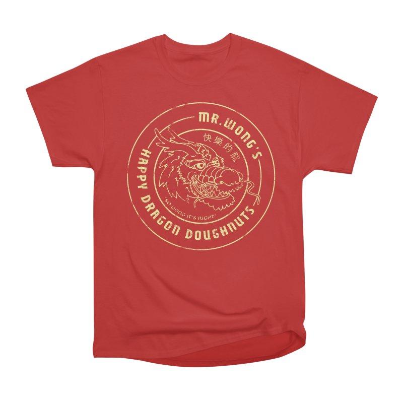 Mr. Wong's Happy Dragon Doughnuts Women's Heavyweight Unisex T-Shirt by Slothfox Apparel by Trenn
