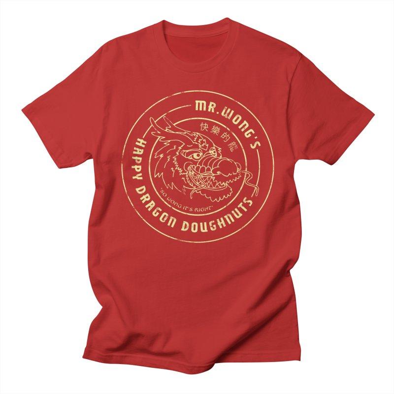 Mr. Wong's Happy Dragon Doughnuts Men's T-shirt by Slothfox Apparel by Trenn