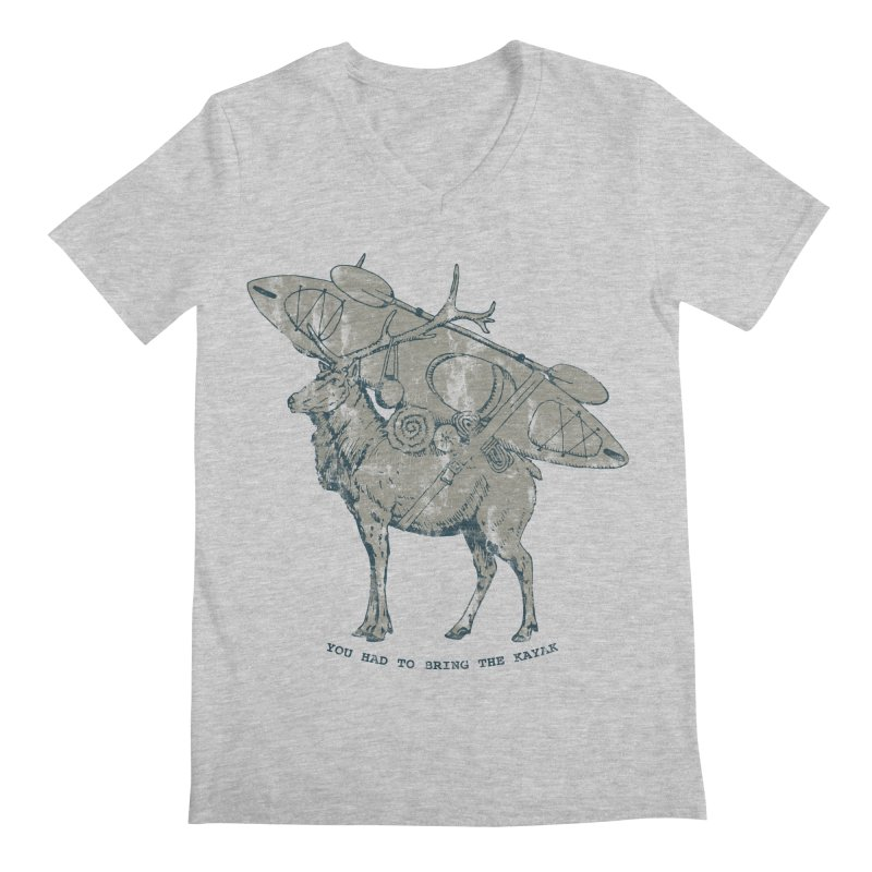 LIMITED EDITION*-- You Had to Bring the Kayak- Vintage Men's V-Neck by Slothfox Apparel by Trenn