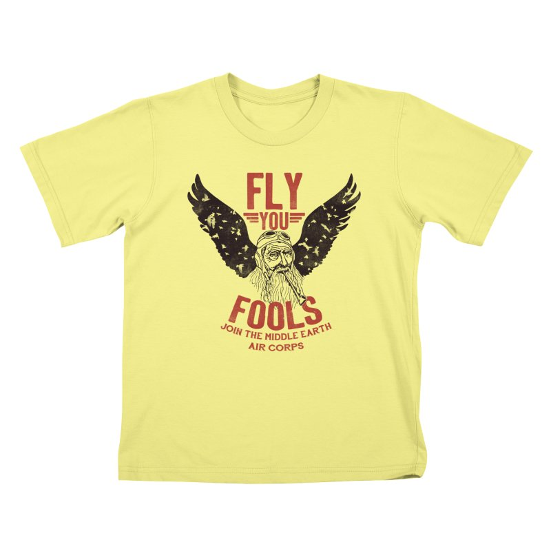 Middle Earth Air Corps Kids T-shirt by Slothfox Apparel by Trenn