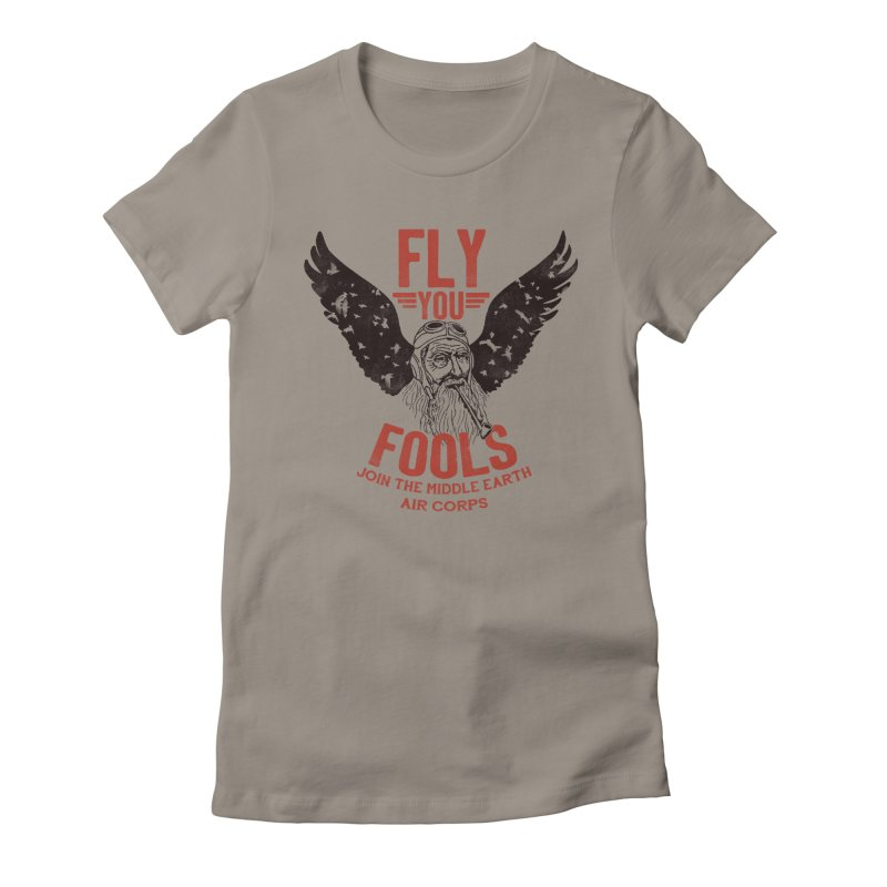 Middle Earth Air Corps Women's Fitted T-Shirt by Slothfox Apparel by Trenn