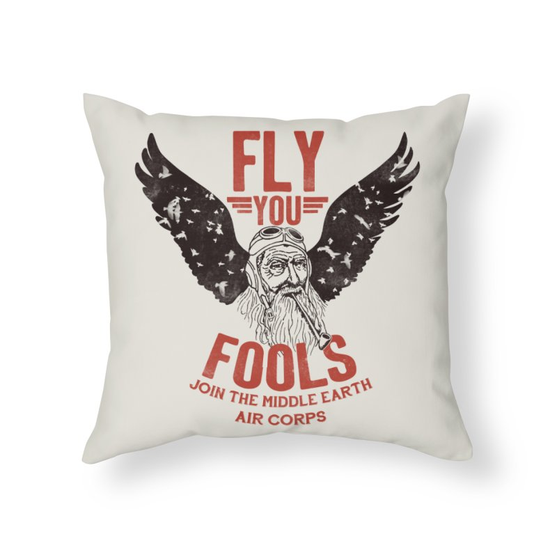 Middle Earth Air Corps Home Throw Pillow by Slothfox Apparel by Trenn