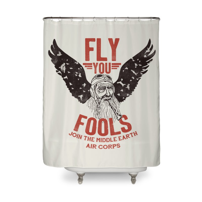 Middle Earth Air Corps Home Shower Curtain by Slothfox Apparel by Trenn