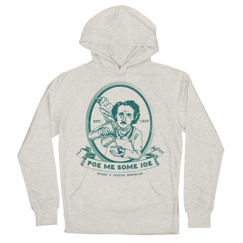 Poe Me Some Joe in Men's Pullover Hoody Heather Oatmeal by Slothfox Apparel by Trenn