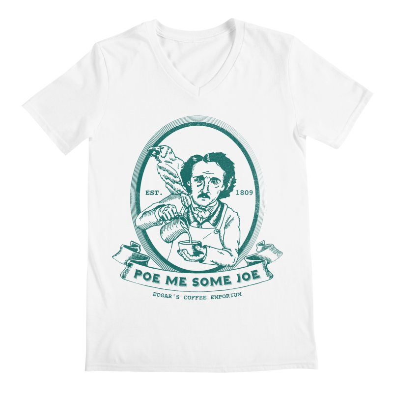 Poe Me Some Joe Men's V-Neck by Slothfox Apparel by Trenn