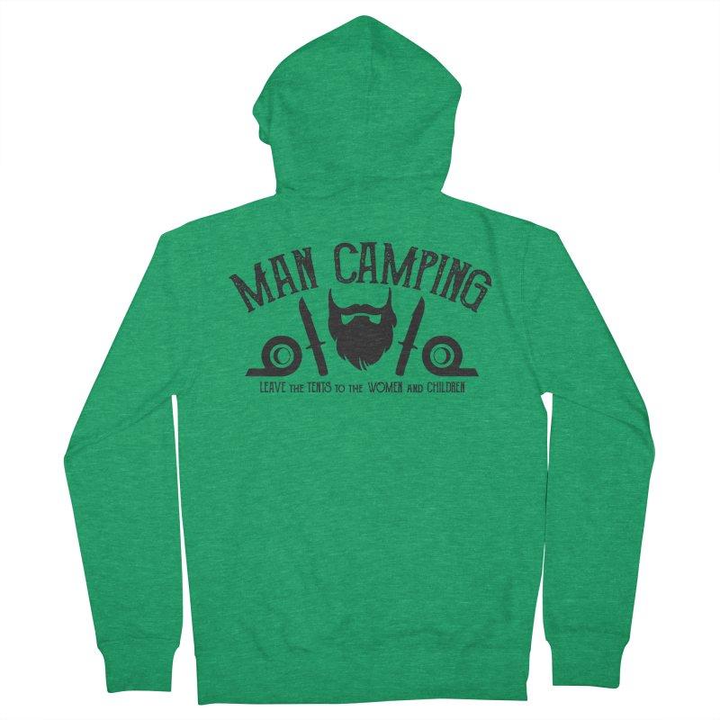 MAN CAMPING! Men's Zip-Up Hoody by Slothfox Apparel by Trenn