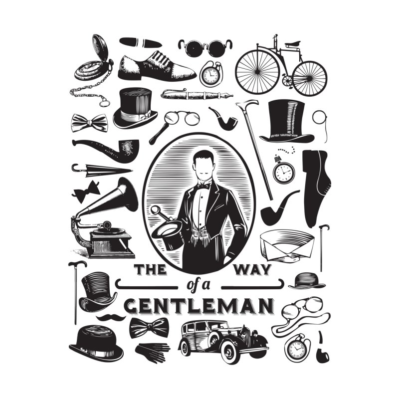 The Way of a Gentleman Home Stretched Canvas by Slothfox Apparel by Trenn