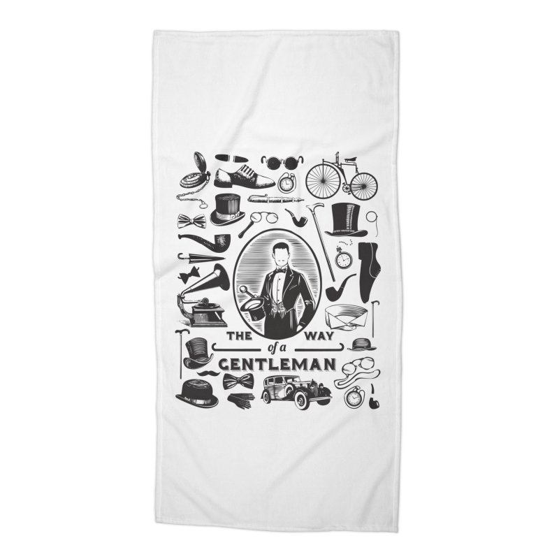 The Way of a Gentleman Accessories Beach Towel by Slothfox Apparel by Trenn
