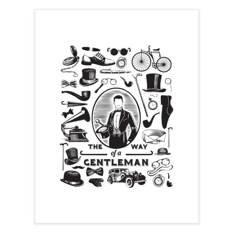 The Way of a Gentleman Home Fine Art Print by Slothfox Apparel by Trenn
