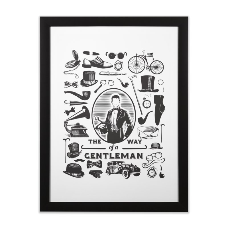 The Way of a Gentleman Home Framed Fine Art Print by Slothfox Apparel by Trenn