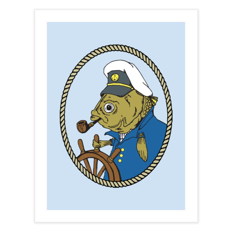 The Sea Captain Home Throw Pillow by Slothfox Apparel by Trenn
