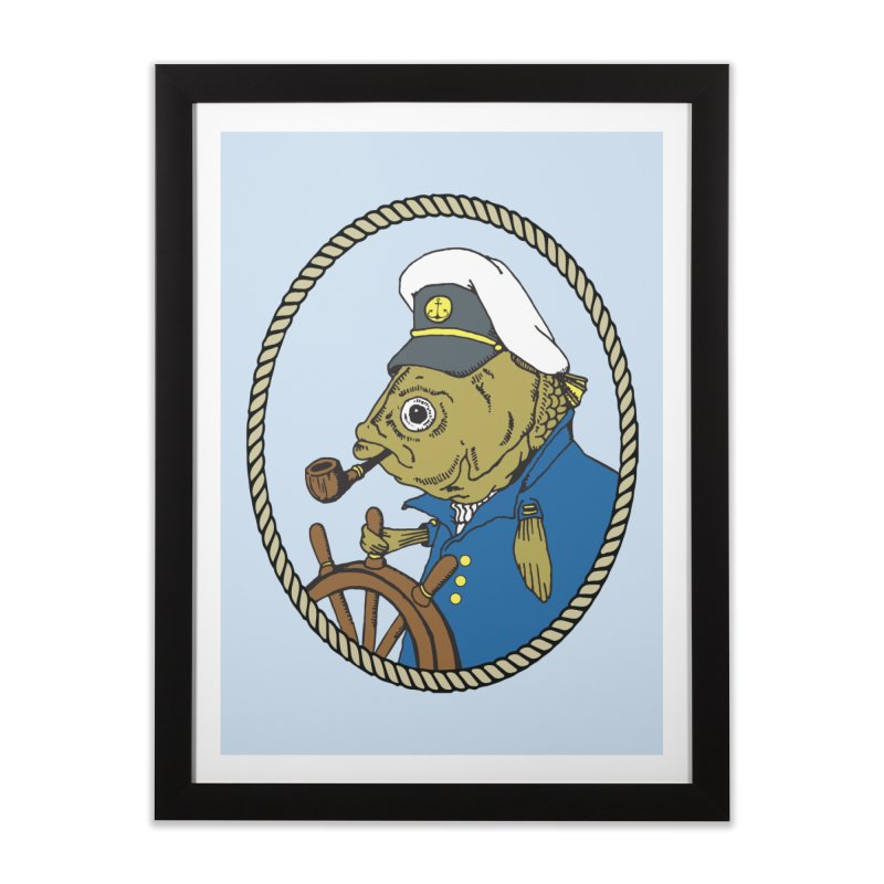 The Sea Captain Home Framed Fine Art Print by Slothfox Apparel by Trenn