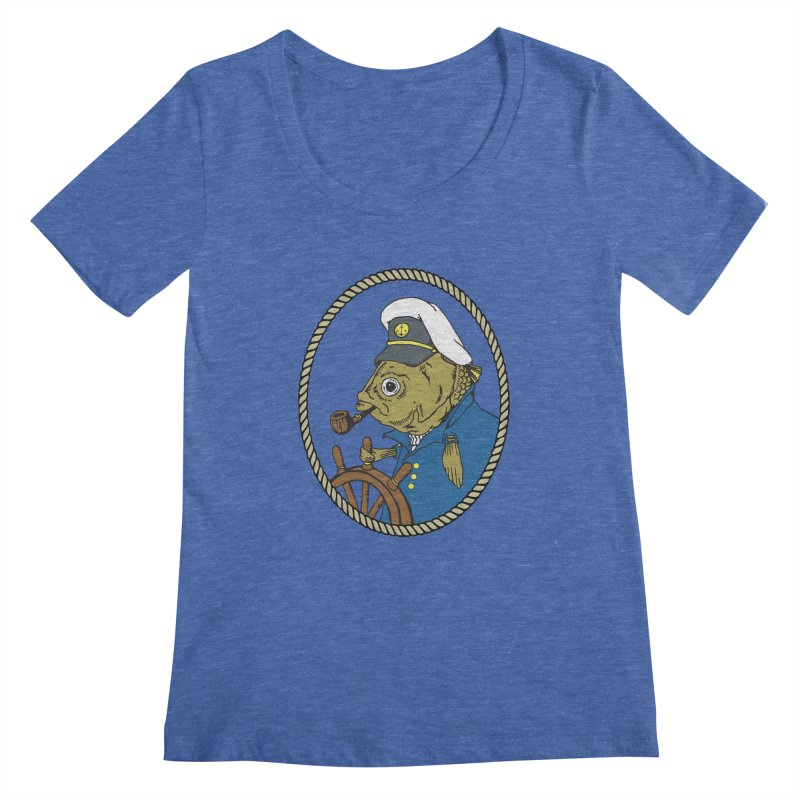 The Sea Captain Women's Scoopneck by Slothfox Apparel by Trenn