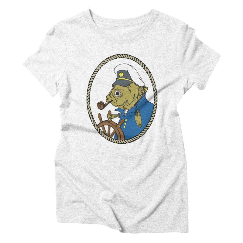 The Sea Captain Women's Triblend T-shirt by Slothfox Apparel by Trenn