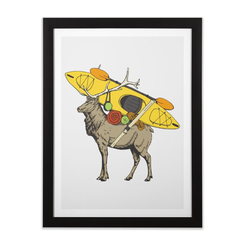 You Had to Bring the Kayak? Home Framed Fine Art Print by Slothfox Apparel by Trenn