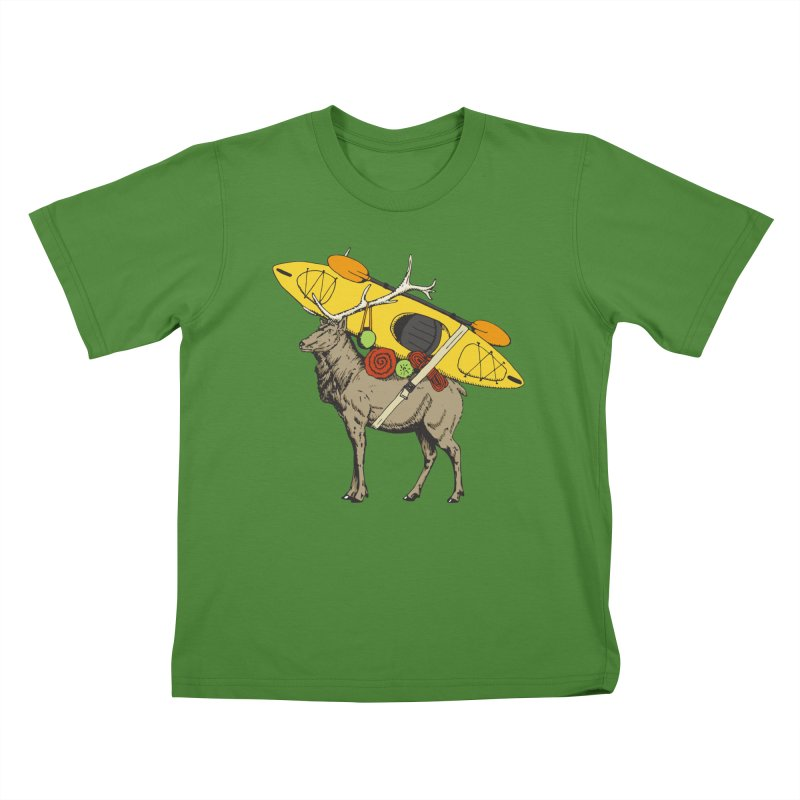 You Had to Bring the Kayak? Kids T-shirt by Slothfox Apparel by Trenn