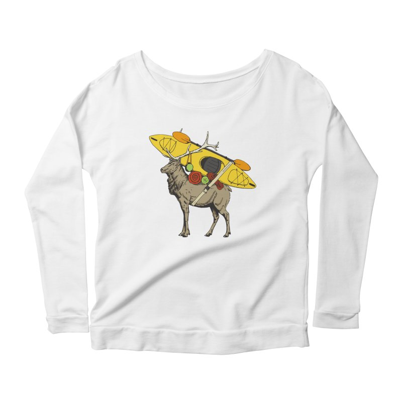You Had to Bring the Kayak? Women's Longsleeve Scoopneck  by Slothfox Apparel by Trenn