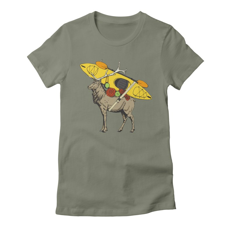 You Had to Bring the Kayak? Women's Fitted T-Shirt by Slothfox Apparel by Trenn
