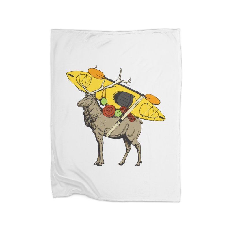 You Had to Bring the Kayak? Home Blanket by Slothfox Apparel by Trenn