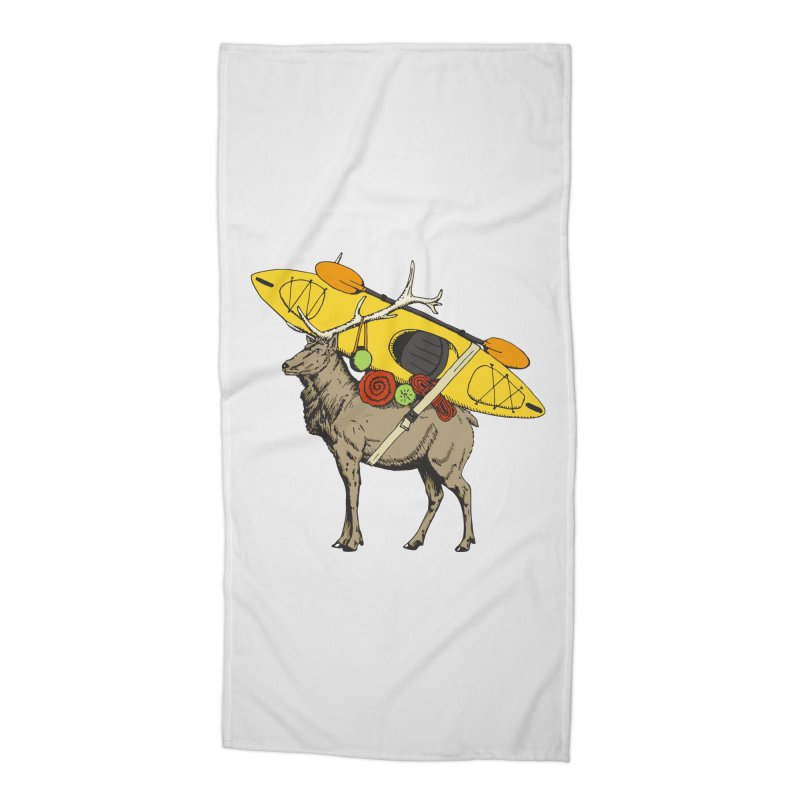 You Had to Bring the Kayak? Accessories Beach Towel by Slothfox Apparel by Trenn