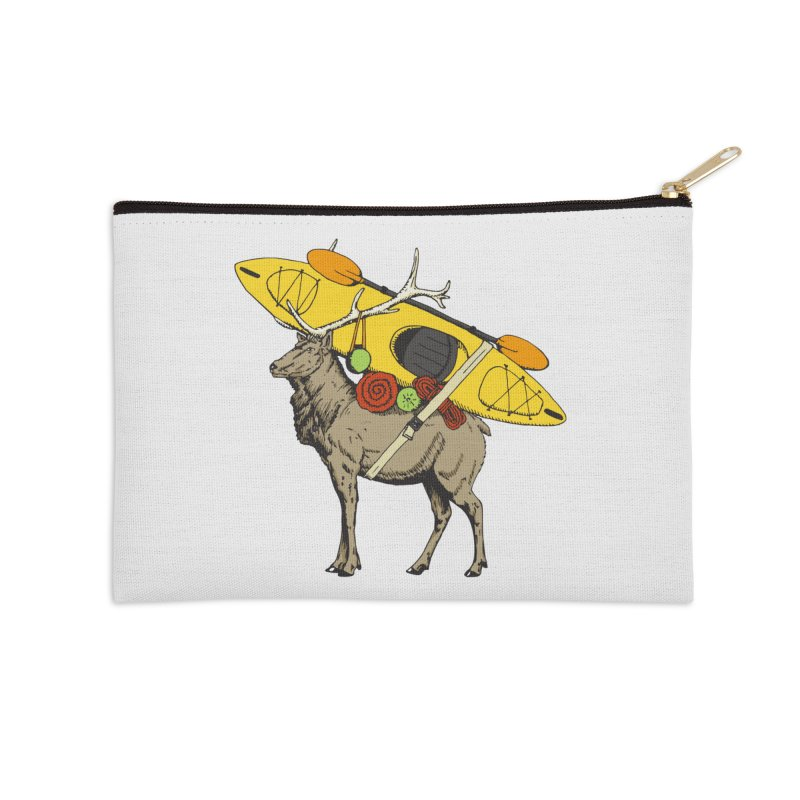 You Had to Bring the Kayak? Accessories Zip Pouch by Slothfox Apparel by Trenn
