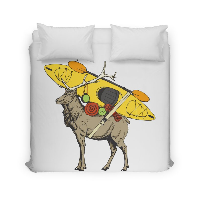 You Had to Bring the Kayak? Home Duvet by Slothfox Apparel by Trenn