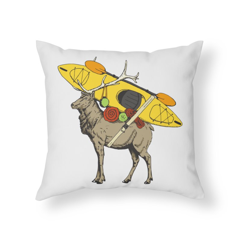 You Had to Bring the Kayak? Home Throw Pillow by Slothfox Apparel by Trenn