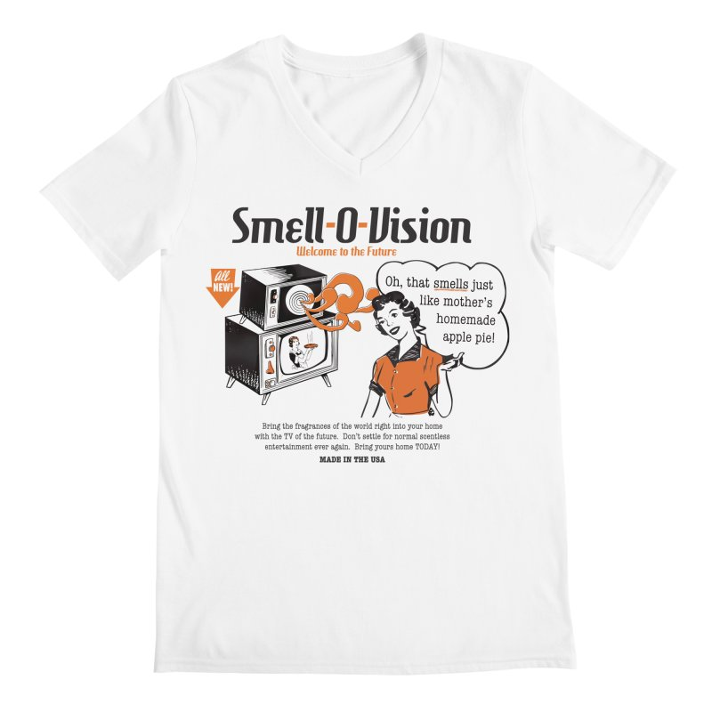 Smell-O-Vision Men's V-Neck by Slothfox Apparel by Trenn