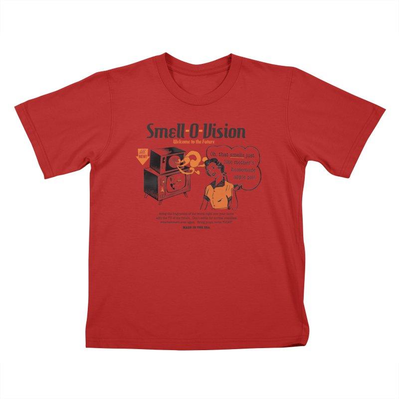 Smell-O-Vision Kids T-shirt by Slothfox Apparel by Trenn