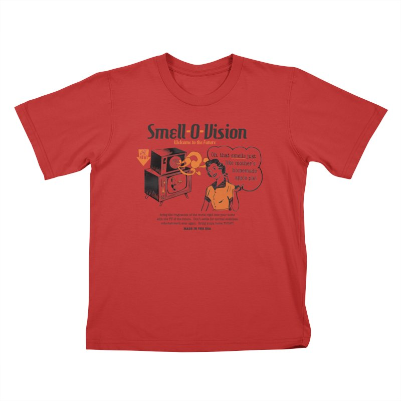 Smell-O-Vision Kids T-Shirt by Slothfox Apparel by Trenn