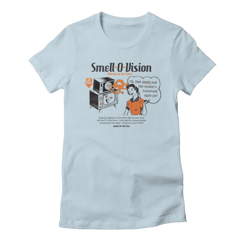 Smell-O-Vision Women's Fitted T-Shirt by Slothfox Apparel by Trenn