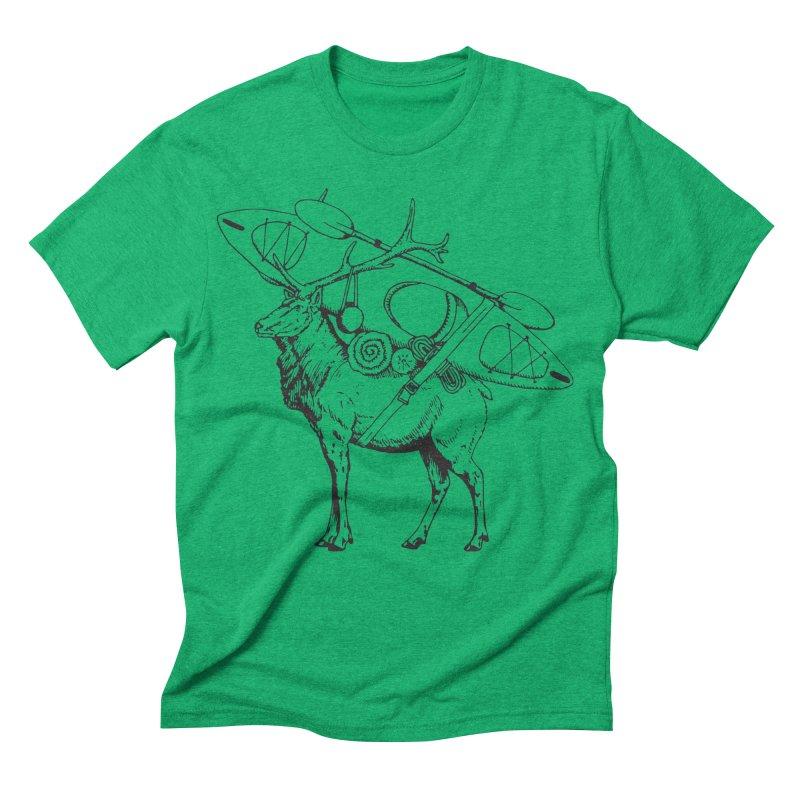 You Had to Bring the Kayak: Black Men's Triblend T-shirt by Slothfox Apparel by Trenn