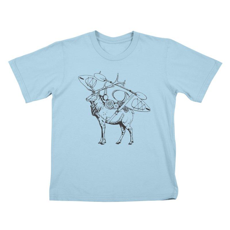 You Had to Bring the Kayak: Black Kids T-shirt by Slothfox Apparel by Trenn