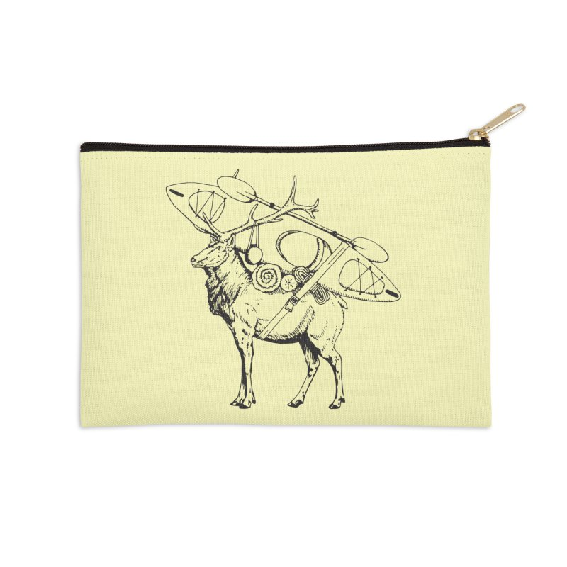 You Had to Bring the Kayak: Black Accessories Zip Pouch by Slothfox Apparel by Trenn