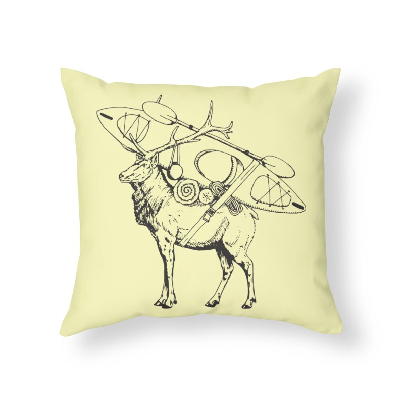 You Had to Bring the Kayak: Black Home Throw Pillow by Slothfox Apparel by Trenn