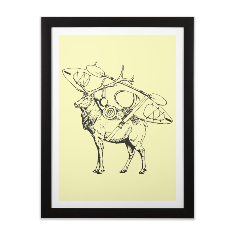 You Had to Bring the Kayak: Black Home Framed Fine Art Print by Slothfox Apparel by Trenn