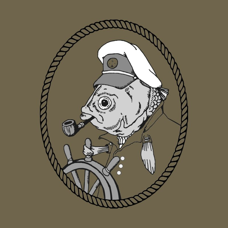 The Sea Captain: greyscale by Slothfox Apparel by Trenn