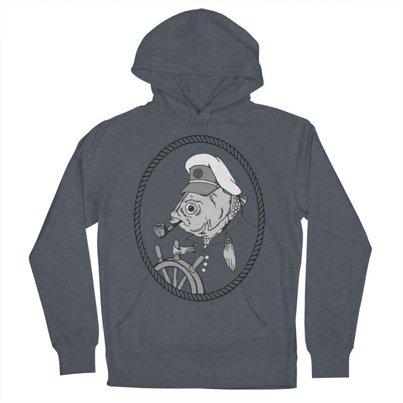 The Sea Captain: greyscale Women's Pullover Hoody by Slothfox Apparel by Trenn