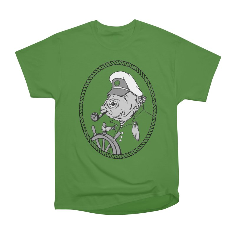 The Sea Captain: greyscale Men's Classic T-Shirt by Slothfox Apparel by Trenn