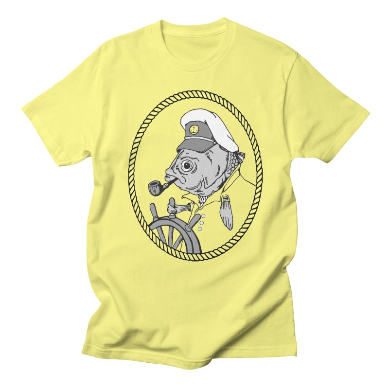 The Sea Captain: greyscale Men's T-Shirt by Slothfox Apparel by Trenn