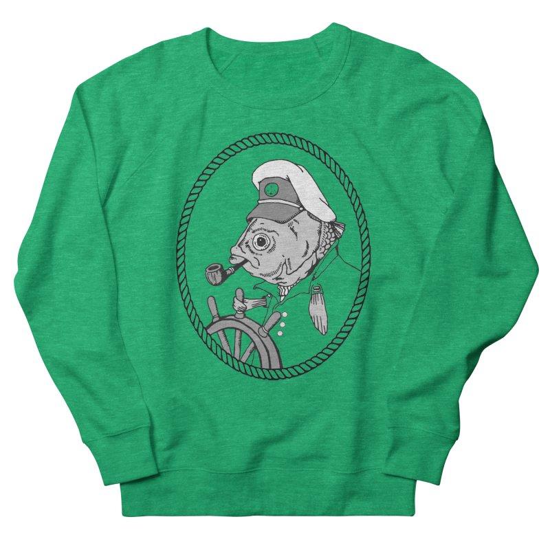 The Sea Captain: greyscale Women's Sweatshirt by Slothfox Apparel by Trenn