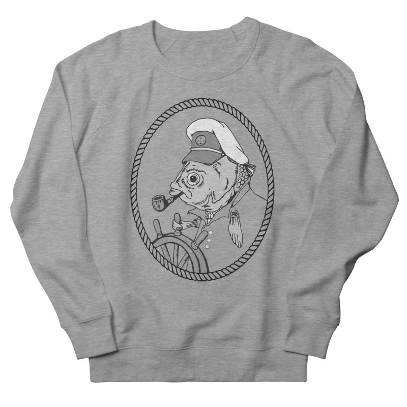 The Sea Captain: greyscale Women's Sweatshirt by Slothfox Apparel by Trenn