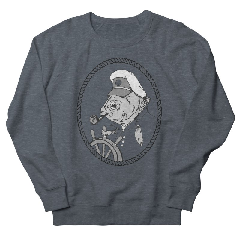 The Sea Captain: greyscale Men's Sweatshirt by Slothfox Apparel by Trenn