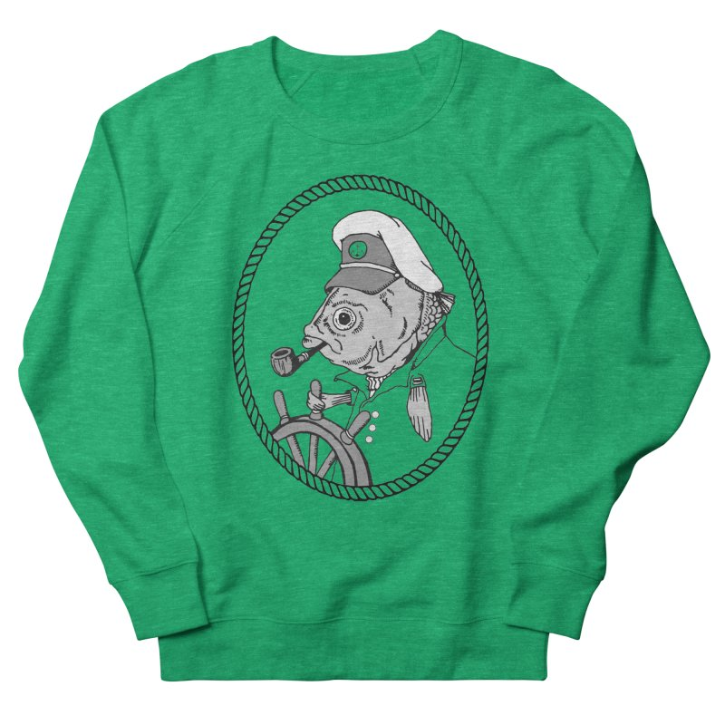 The Sea Captain: greyscale Men's Sweatshirt by Slothfox Apparel by Trenn