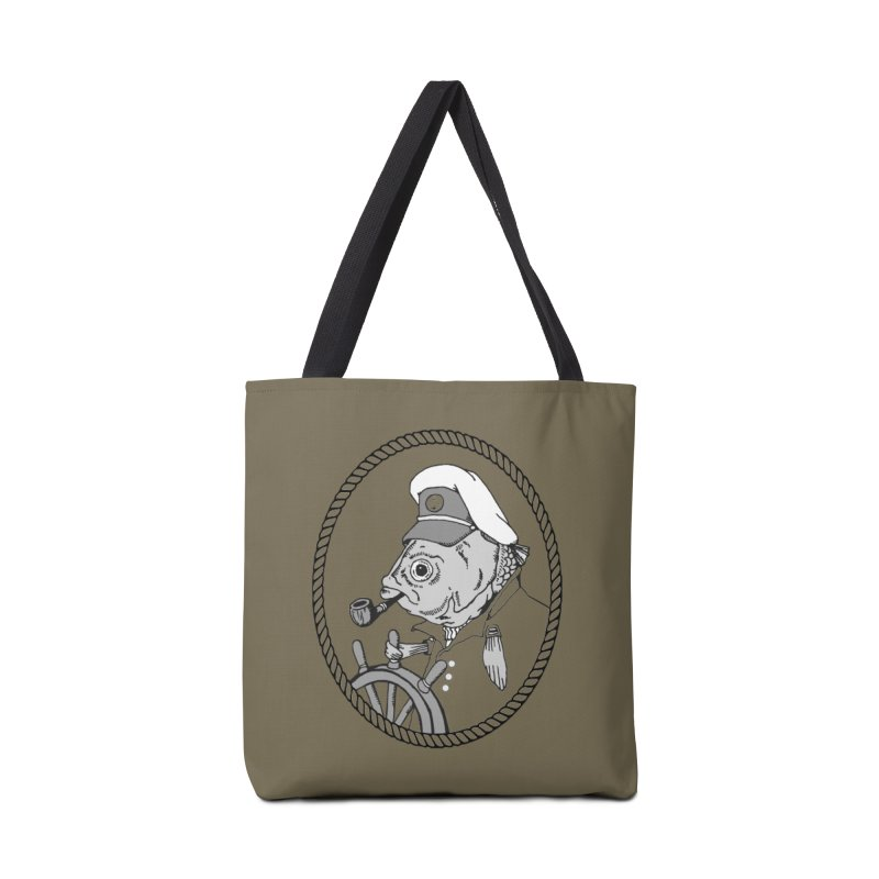 The Sea Captain: greyscale Accessories Bag by Slothfox Apparel by Trenn