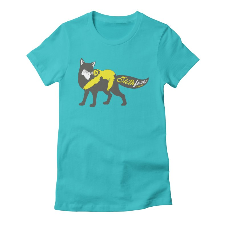 Slothfox Apparel Tee Women's Fitted T-Shirt by Slothfox Apparel by Trenn
