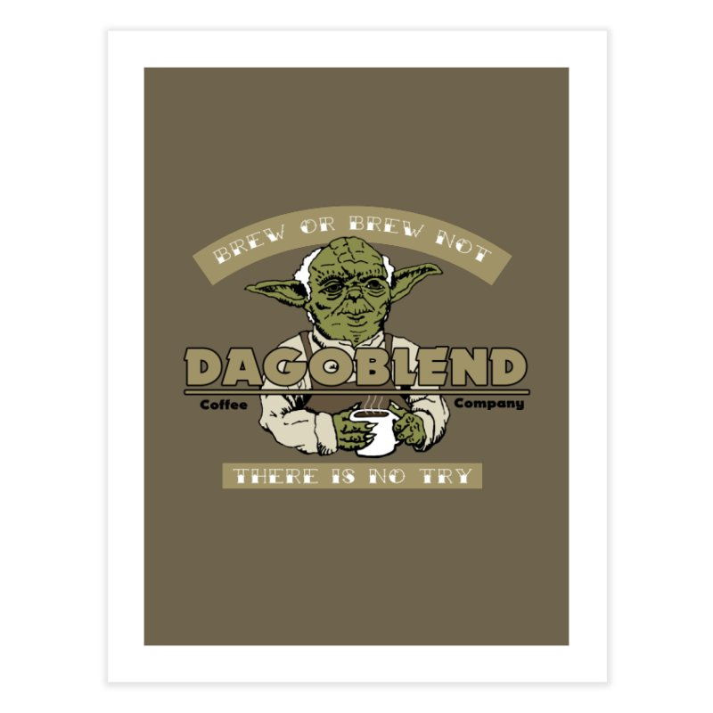 Brew or Brew Not: Dagoblend Home Throw Pillow by Slothfox Apparel by Trenn
